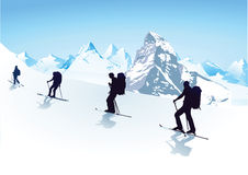 Hiking in the group Stock Photos