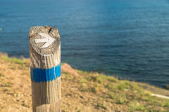 Hiking guidepost Royalty Free Stock Image