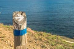 Hiking guidepost Royalty Free Stock Image