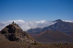 hiking haleakala кратера Стоковые Изображения