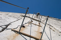 Hiking Half Dome stock images