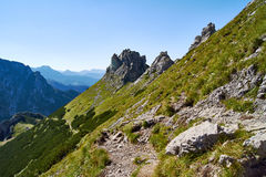 Hiking in the High Tatras mountains Stock Photography