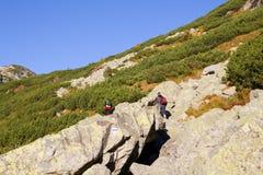 Hiking in the High Tatras National Park, Slovakia Royalty Free Stock Photo