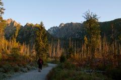 Hiking in the High Tatras National Park, Slovakia Stock Image