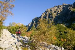 Hiking in the High Tatras National Park, Slovakia Royalty Free Stock Images