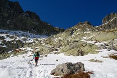 Hiking in the High Tatras National Park, Slovakia Stock Images