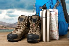 Hiking. Hike camping boot backpack backpacker knapsack stock images