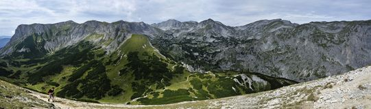 Hiking in Hochschwab Mountains Royalty Free Stock Image