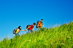 Hiking holidays Royalty Free Stock Images