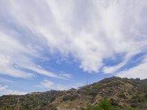 Hiking in Hollywood Hills trail Stock Images