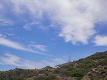 Hiking in Hollywood Hills trail Royalty Free Stock Photo