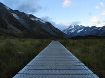 Hiking the Valley track in Mount Cook National Park. Driving in NZ, stopped at Mount Cook NP. Earlier this year in March 2018. Amazing scenery!! One of the best royalty free stock image