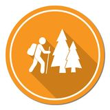 Hiking icon illustration Royalty Free Stock Image