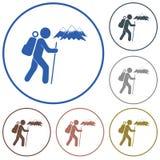 Hiking icon illustration Stock Photo