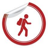 Hiking icon illustration Stock Photography