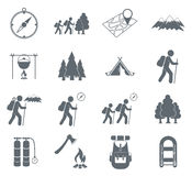Hiking icon illustration isolated vector Royalty Free Stock Image