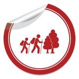 Hiking icon illustration Stock Image