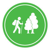 Hiking icon illustration Stock Photography