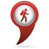 Hiking icon illustration Stock Photos