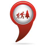 Hiking icon illustration Royalty Free Stock Photo