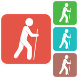 Hiking icon illustration Stock Photo