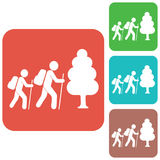 Hiking icon illustration Stock Photos