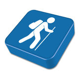 Hiking icon illustration  vector. Sign symbol Royalty Free Stock Photography
