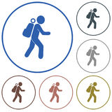 Hiking icon illustration Stock Images