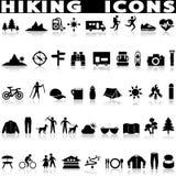 Hiking icon set. royalty free stock image