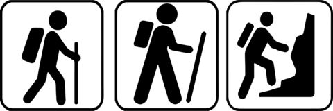 Hiking icon on white background royalty free illustration