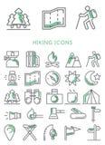 Hiking icons set  Stock Photo