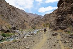 Free Hiking In A Valley In Alborz Mountains , Iran Royalty Free Stock Image - 160709006