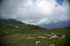 Hiking In Alps Royalty Free Stock Photo