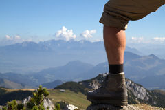 Hiking In The Bavarian Alps, Germany Royalty Free Stock Photos