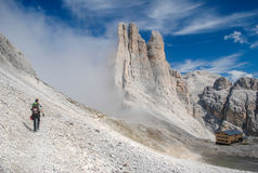 Free Hiking In The Dolomites Royalty Free Stock Photography - 39111857