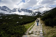 Hiking In The Mountains Royalty Free Stock Photo