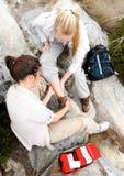 Hiking injury Stock Images