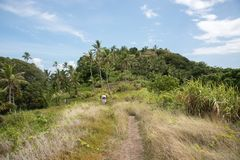 Hiking Island Mountain stock photo