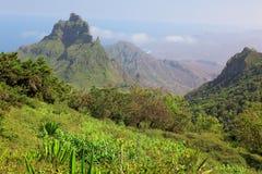 Hiking on island of Sao Nicolau, Cape Verde Royalty Free Stock Photo