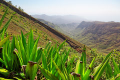Hiking on island of Sao Nicolau, Cape Verde Royalty Free Stock Photography