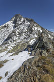 Hiking in the Italian alps, Europe, in autumn Stock Photography