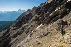 Hiking in the italian Alps Stock Photography