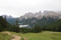 Hiking In Italy / Beautiful Dolomites royalty free stock photos