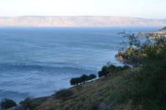 Hiking Jesus trail - beautiful view of Mt. Arbel in countryside of Galilee, Sea of Galilee, Israel royalty free stock photo