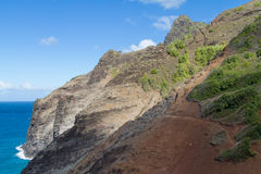 Hiking the Kalalau trail Royalty Free Stock Image