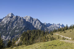 Hiking in the Karwendel Royalty Free Stock Images