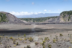 Hiking Kilauea Iki Kilauea Volcano, Hawaii Royalty Free Stock Photos