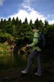Hiking at lake Royalty Free Stock Images