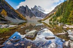 Hiking Lake Agnes Royalty Free Stock Image