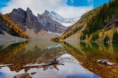 Hiking Lake Agnes Stock Photography